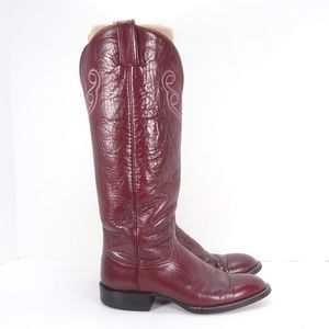 Hondo Boots Shoes - VINTAGE HONDO BOOTS TALL COWBOY BOOTS 6.5 C